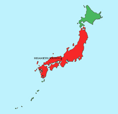 Japan Module | Map | Heian Period (794 – 1185)