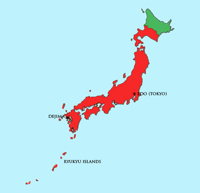 Japan Module | Map | Tokugawa Period (1600 – 1867)
